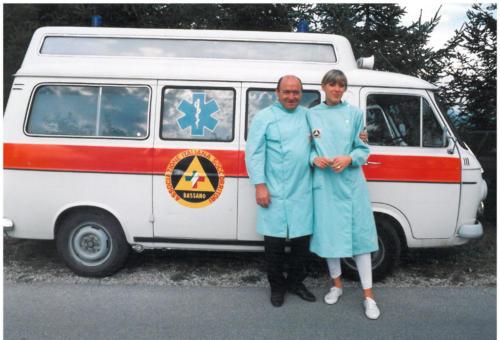 Anni 1985, Soccorritori: Frizzo Mario e Vidale Paola.